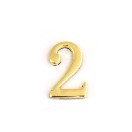 Цифра для обозначения номера квартиры 2, цвет: золотистый67292Цифра 2 для обозначения номера квартиры выполнена из золотистого металла. Устанавливается с помощью липкого слоя, нанесенного на обратную сторону изделия. Характеристики: Материал: металл. Цвет: золотистый. Размер цифры: 2,8 см х 4,3 см х 0,5 см. Размер упаковки: 12 см х 6 см х 0,7 см. Артикул: 67292.