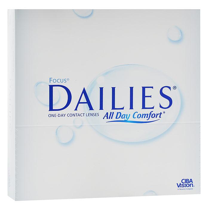 CIBA контактные линзы Dailies All Day Comfort (90шт / 8.6 / -2.25)43864Focus Dailies All Day Comfort - это однодневные контактные линзы от всемирно известного производителя Ciba Vision. Эти линзы не нуждаются в уходе и не требуют дополнительных расходов. Контактные линзы обладают идеальной точностью и подходят более чем 90% людей, нуждающихся в коррекции зрения. Focus Dailies All Day Comfort изготавливаются из нейлонового материала нелфилкон А. Этот современный и безопасный материал дарит вам ощущение полного комфорта на весь день. Для большего удобства в обращении линзы имеют слабую тонировку. Неоспоримым достоинством Focus Dailies All Day Comfort является запатентованная технология компании Ciba Vision - Aqua Comfort. Внутри линзы содержится увлажняющий агент, который выделяется при моргании. Это позволяет вашим глазам оставаться увлажненными в течение всего срока ношения. Focus Dailies All Day Comfort изготавливаются совершенно новым методом Light Technology, благодаря чему линзы получаются сверхтонкими с идеально ровными краями....