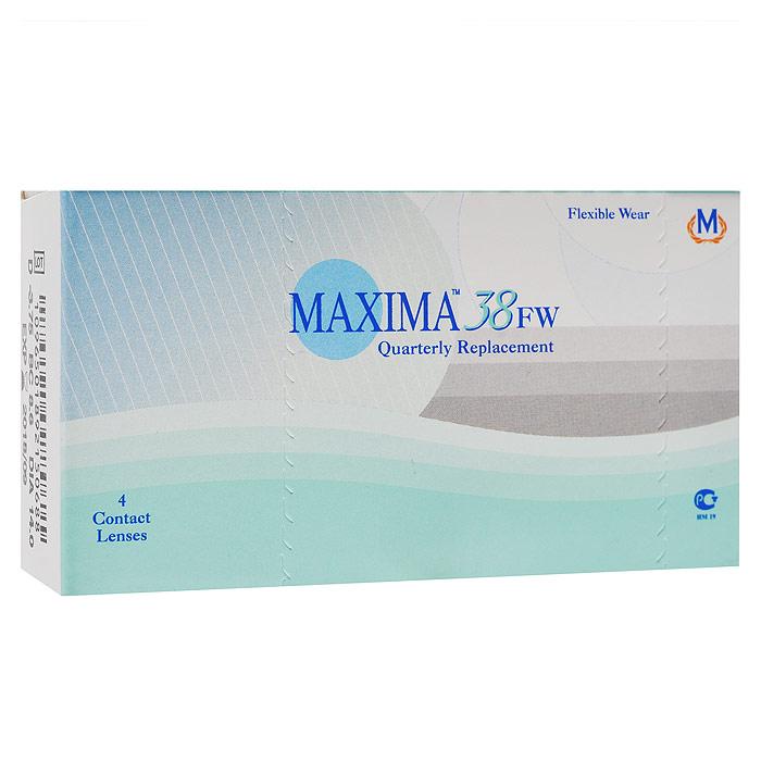 Maxima контактные линзы 38 FW (4 шт / 8.6 / -4.00)1004Линзы квартальной замены Maxima 38 FW обладают отличными клиническими характеристиками в сочетании с доступной ценой. Идеальны для перехода пациентов с традиционных линз к плановой замене. Ровный тонкий профиль края линзы Maxima 38 FW, незначительная толщина в центре обеспечивают комфорт ношения и улучшают кислородную проницаемость к роговице. Замена через 3 месяца.