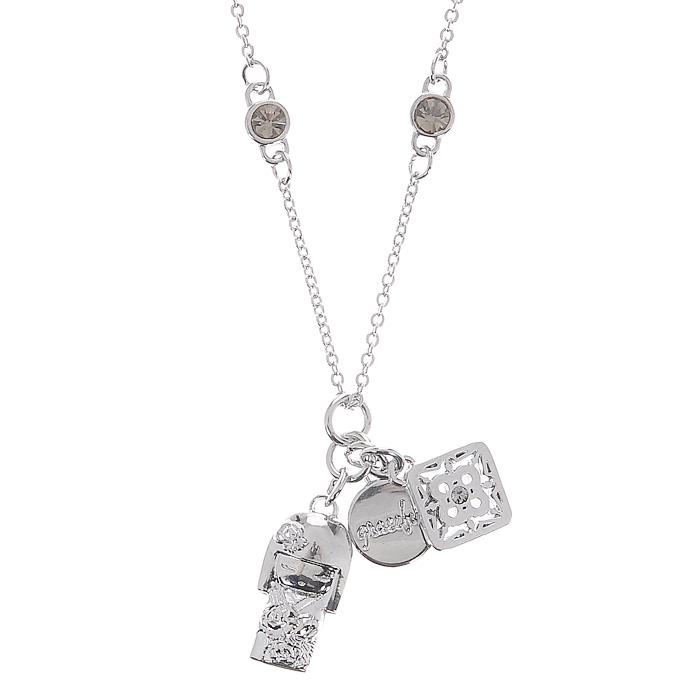 Подвеска женская Kimmidoll Наоми (Красота), цвет: серебристый. KF0861KF0861Очаровательная подвеска на цепочке, выполненная в виде куколки Наоми и двух дополнительных кулонов из высококачественного металла, оформлена кристаллами Swarovski и упакована в подарочную коробку. Такая подвеска с лазерной гравировкой прекрасно подойдет к любому образу. Размер подвески регулируется. Привет, меня зовут Наоми! Я талисман подлинной красоты. Мой Дух - гордый и вызывающий. Любя себя таким, каким вы есть, и, принимая каждый недостаток и несовершенство, как неотъемлемую часть нашей жизни, ваша честность раскрывает мой красивый и честный дух. Можете всегда гордиться собой, оставаясь самим собой и не меняя своих взглядов.