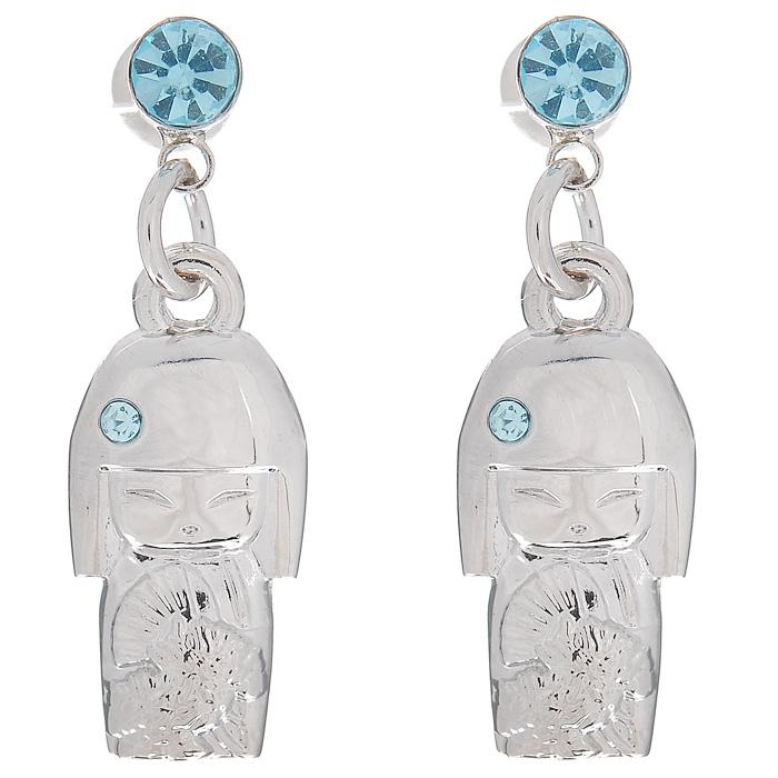 Серьги женские Kimmidoll Миюна (Элегантность), цвет: серебристый. KF0868KF0868Очаровательные серьги, выполненные в виде куколки Миюна из высококачественного металла, оформлены кристаллами Swarovski голубого цвета и упакованы в подарочную коробку. Такие серьги с лазерной гравировкой прекрасно подойдут к любому образу. Серьги фиксируются с помощью металлического замочка-гвоздика. Привет, меня зовут Миюна. Я талисман элегантности и изящества. Я - очаровательная и терпеливая. Ваш простой, но изысканный стиль воплощают вечные достоинства моего духа. Пусть ваша природная грация и неувядающая красота отражается во всем, что вы делаете, вдохновляя всех тех, кто любит и восхищается вами.