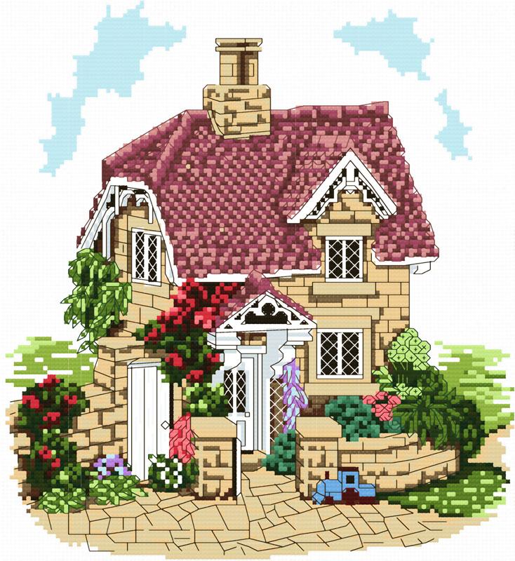 Вышивка крестом схемы домов 67