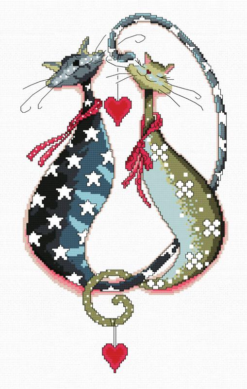 Набор для вышивания крестом Замурчательная пара, 32 х 44 см4022-14 Замурчательная параВ наборе для вышивания крестом Замурчательная пара есть все необходимое для создания роскошной интерьерной картины: обработанная канва Аида 14 белого цвета, хлопковые мулине, цветная символьная схема, 2 иглы, инструкция по вышиванию на русском языке. Необычайной красоты рисунок-вышивка с красочным изображением двух влюбленных котов привлечет к себе внимание и будет потрясающе смотреться в интерьере вашего помещения, особенно в интерьере детской комнаты. Вышивание крестом отвлечет вас от повседневных забот и превратится в увлекательное занятие! Работа, сделанная своими руками, создаст особый уют и атмосферу в доме, и долгие годы будет радовать вас и ваших близких.