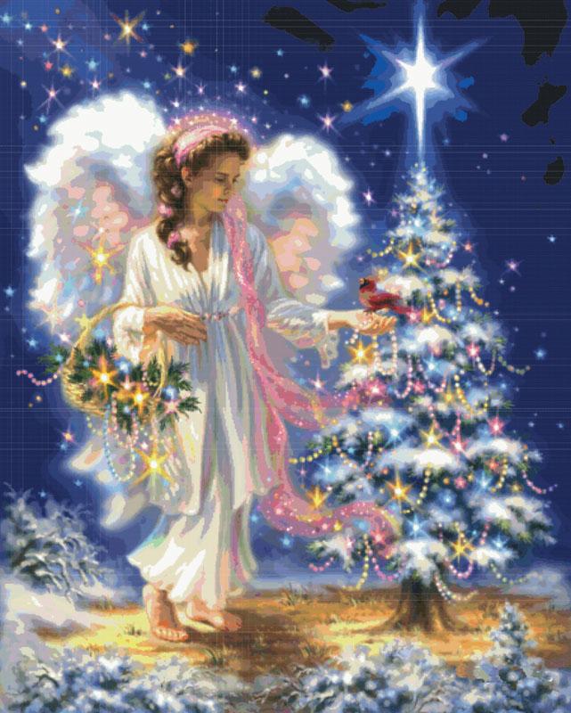 Набор для вышивания крестом Рождественский Ангел, 92 см х 112 см5555-14 Рождественский АнгелВ наборе для вышивания крестом «Рождественский ангел» есть все необходимое для создания роскошной интерьерной картины: хлопковая аппретированная канва Аида-14 с обработанным краем, белого цвета, цветная символьная схема вышивки, 2 иглы, нитки мулине (100% хлопок), инструкция по вышиванию на русском языке. Необычайной красоты рисунок-вышивка, выполненный в виде красочного изображения ангела у новогодней елки, привлечет к себе внимание и будет потрясающе смотреться в интерьере вашего помещения. Вышивание крестом отвлечет вас от повседневных забот и превратится в увлекательное занятие! Работа, сделанная своими руками, создаст особый уют и атмосферу в доме и долгие годы будет радовать вас и ваших близких.
