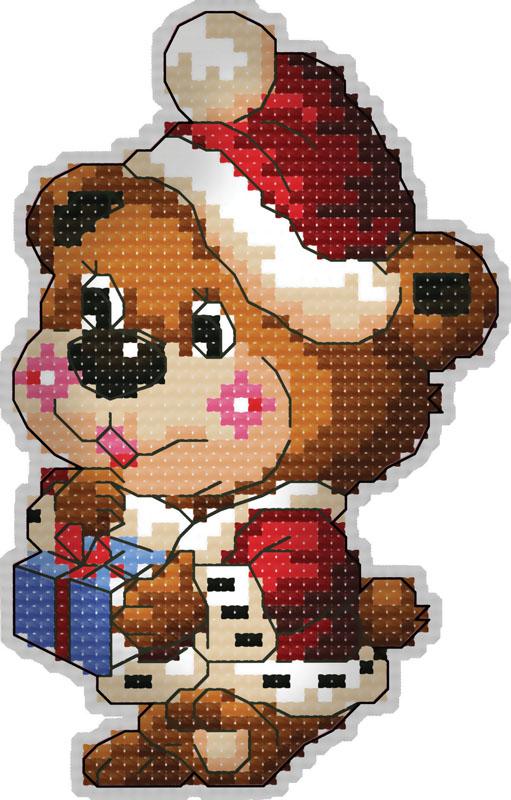 Набор для вышивания брелка Медвежонок с подарком, 8 смБрелок 6050 Медвежонок с подаркомВ наборе для вышивания брелка «Медвежонок с подарком» есть все необходимое для создания приятного сувенира своими руками: пластиковая канва 18СТ белого цвета, органайзер и нитки мулине для вышивания, цветная символьная схема, 2 иглы, держатель, наполнитель, инструкция по вышиванию на русском языке. Создайте своими руками брелок для ключей в виде милого медвежонка в новогоднем колпаке. Забавный аксессуар может стать прекрасным маленьким подарком для близкого человека. Вышивание крестом отвлечет вас от повседневных забот и превратится в увлекательное занятие! Работа, сделанная своими руками, создаст особый уют и атмосферу в доме, и долгие годы будет радовать вас и ваших близких.