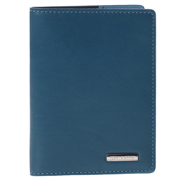 Обложка для паспорта Neri Karra, цвет: голубой. 0140 3-01.66/790140 3-01.66/79Обложка для паспорта Neri Karra выполнена из натуральной высококачественной кожи голубого цвета с естественной лицевой и ворсовой поверхностью. Такая обложка не только сохранит внешний вид документов и защитит их от грязи и пыли, но и станет стильным аксессуаром, который идеально дополнит ваш образ. Обложка упакована в подарочную коробку черного цвета с логотипом фирмы Neri Karra.
