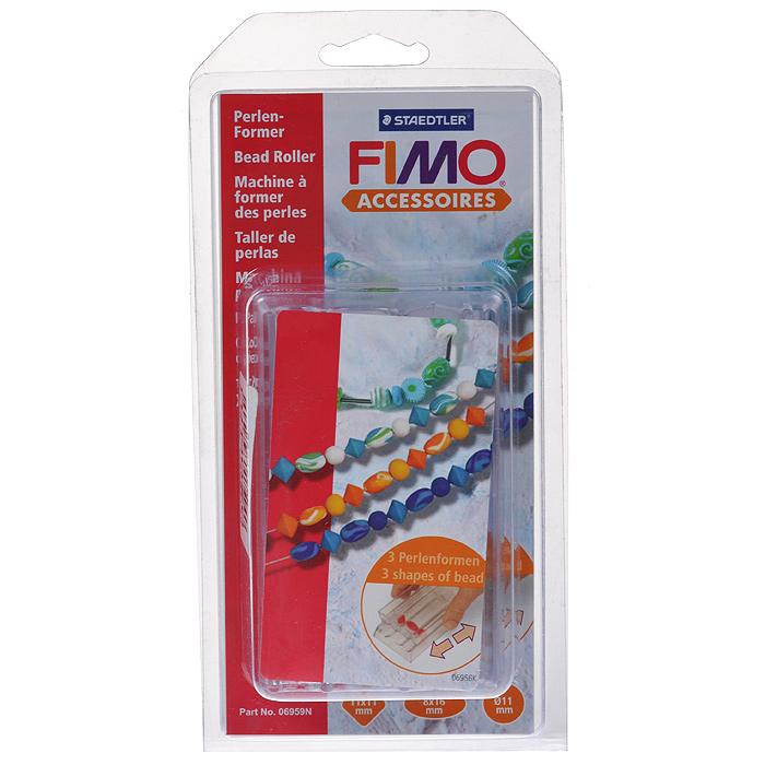 Ролик для создания бусин Fimo8712Ролик Fimo, изготовленный из прозрачного пластика, разработан специально для создания украшений из полимерной глины. Он поможет вам сделать много однотипных бусин для бижутерии. В комплект входит иллюстрированная инструкция по созданию бусин. С таким роликом вы создадите много прекрасных украшений, которые подчеркнут ваш образ или порадуют ваших друзей и близких.