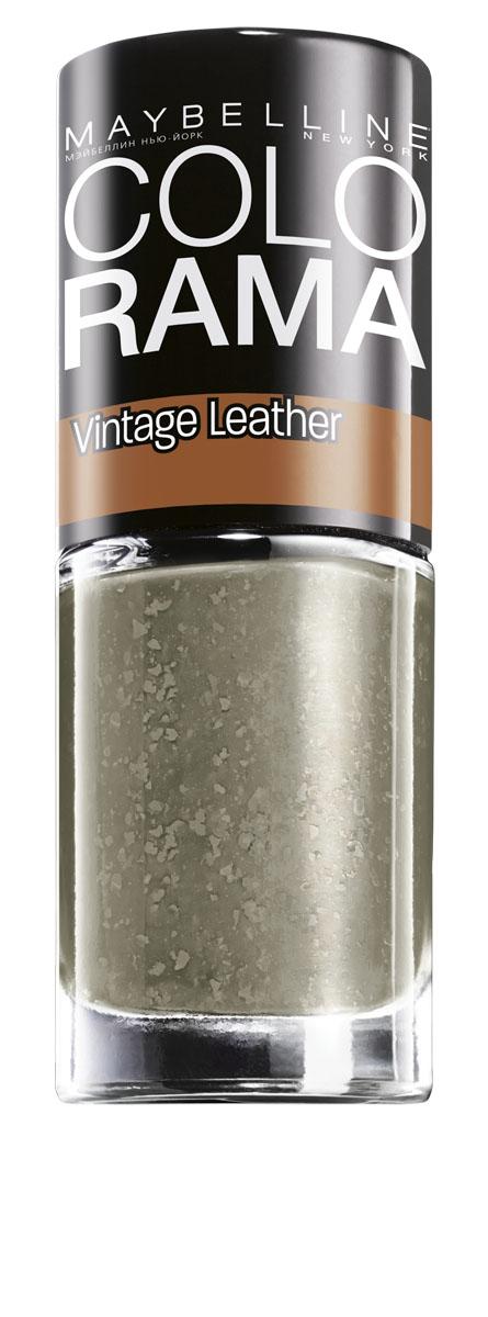 """Maybelline New York Лак для ногтей Colorama, Vintage Leather, оттенок 208, Блеск апельсина, 7 млB2279100Лаки Colorama из коллекции """"Винтажный деним"""" созданы по специальной формуле. Яркая непрозрачная база и специальные """"выцветшие частички"""" создают эффект выцветшей джинсовой ткани. Никакого сложного нейл-арта, просто выбери оттенок - светло-голубой, небесный, мятный или индиго – покрой им ногти, и оригинальный маникюр готов."""