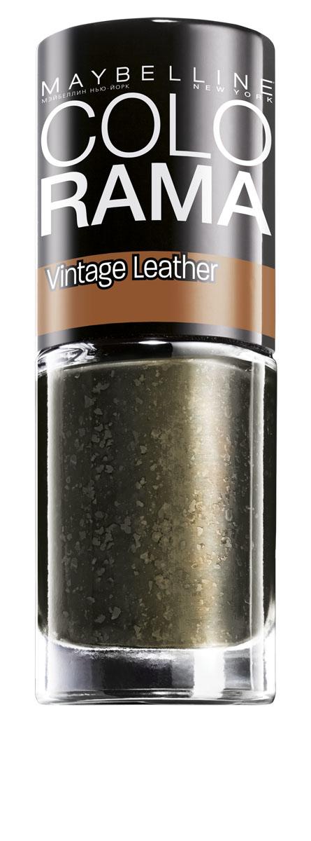 """Maybelline New York Лак для ногтей Colorama, Vintage Leather, оттенок 209, Золотистый изумруд, 7 млB2279200Лаки Colorama из коллекции """"Винтажный деним"""" созданы по специальной формуле. Яркая непрозрачная база и специальные """"выцветшие частички"""" создают эффект выцветшей джинсовой ткани. Никакого сложного нейл-арта, просто выбери оттенок - светло-голубой, небесный, мятный или индиго – покрой им ногти, и оригинальный маникюр готов."""