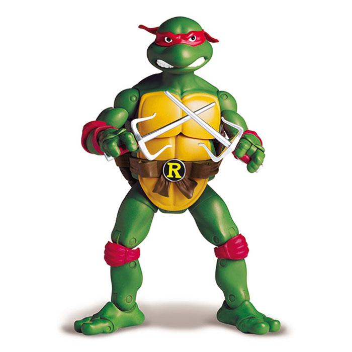 Фигурка Turtles Рафаэль, 15 см91083Фигурка Turtles Рафаэль станет прекрасным подарком для вашего ребенка. Она выполнена из прочного пластика в виде персонажа команды TMNT - Черепашки-Ниндзя Рафаэля. Голова, руки, ноги и корпус фигурки подвижны, 34 точки артикуляции позволяют придавать Рафаэлю различные позы. В комплект входят подставка в виде люка и оружие Черепашки - пара кинжалов-сай. Ваш ребенок будет часами играть с этой фигуркой, придумывая различные истории с участием любимого героя. Они подверглись мутации и обучались искусству ниндзюцу у великого сэнсэя Сплинтера. Черепашки-Ниндзя готовы выбраться из своего секретного убежища и спасти мир от сил зла! Черепашки-Ниндзя впервые появились на страницах комиксов в далеких 80-х. Черепашки перебрались на телевидение по воле студии Murakami-Wolf-Swenson (MWS) и продолжали радовать своих поклонников в течение десяти лет (1987-1996). 5 лет подряд были признаны сериалом №1. За это время было показано более 190 эпизодов, а озорные и веселые герои...