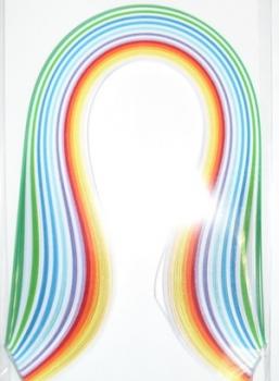 Набор бумаги для квиллинга, цвет: ассорти, полоски 0,5 х 30 см, 12 цветов, 100 штAH8105018Квиллинг - искусство изготовления плоских или объемных композиций из скрученных в спиральки длинных и узких полосок бумаги. Из бумажных спиралей создают цветы и узоры, которые затем используют обычно для украшения открыток, альбомов, подарочных упаковок, рамок для фотографий. Это простой и очень красивый вид рукоделия, не требующий больших затрат. Изделия из бумажных лент можно использовать также как настенные украшения или даже бижутерию.