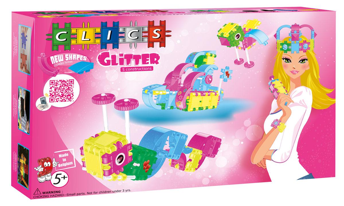 Clics Конструктор Для девочекRC104Конструктор Clics (Кликс). Для девочек - отличный набор для девочки, благодаря которому можно построить пять разных моделей конструкций по прилагаемой инструкции, а также бесконечные забавные конструкции руководствуясь своей фантазией: от маленькой птички до мебели для любимой куклы. Конструктор содержит: 82 детали Кликс с блестками, 18 аксессуаров, набор наклеек и инструкции по сборке 5 конструкций. Такой конструктор позволит развить мелкую моторику рук, воображение, пространственное и логическое мышление.