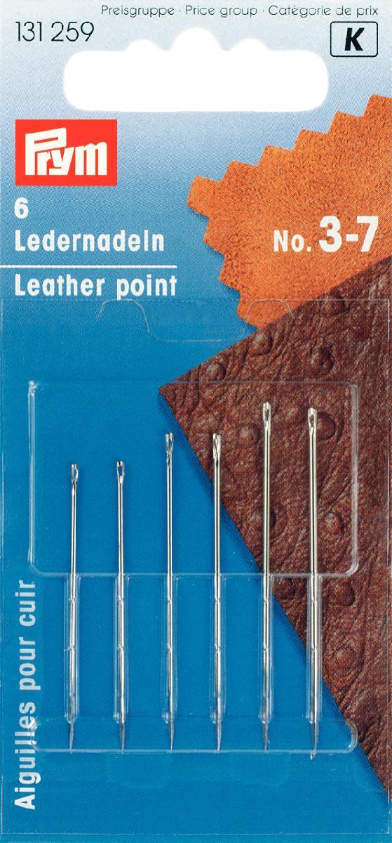Набор игл ручных Prym, для кожи, с трехсторонним острием, №3-7, 6 шт131259Набор ручных игл Prym предназначены для пошива и ремонта изделий из кожи. Иглы имеют трехстороннее острие. Изготовлены из высококачественной стали. В наборе шесть игл № 3-7.