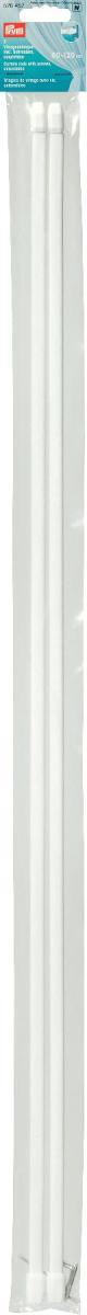 Штанги для витражей и окон Prym, телескопические, длина 80-120 см, 2 шт526452Длина варьируется по ширине окна, что очень удобно и функционально. Идеальны для пластиковых и деревянных окон, когда нет возможности или желания занавешивать окно гардиной. В комплекте идут крючки с резьбой для крепления витражного карниза. Характеристики: Материал: металл, пластик. Размер штанги: 80 см/120 см х 1 см х 0,5 см. Количество в упаковке: 2 шт. Размер упаковки: 81 см х 5 см х 1 см.