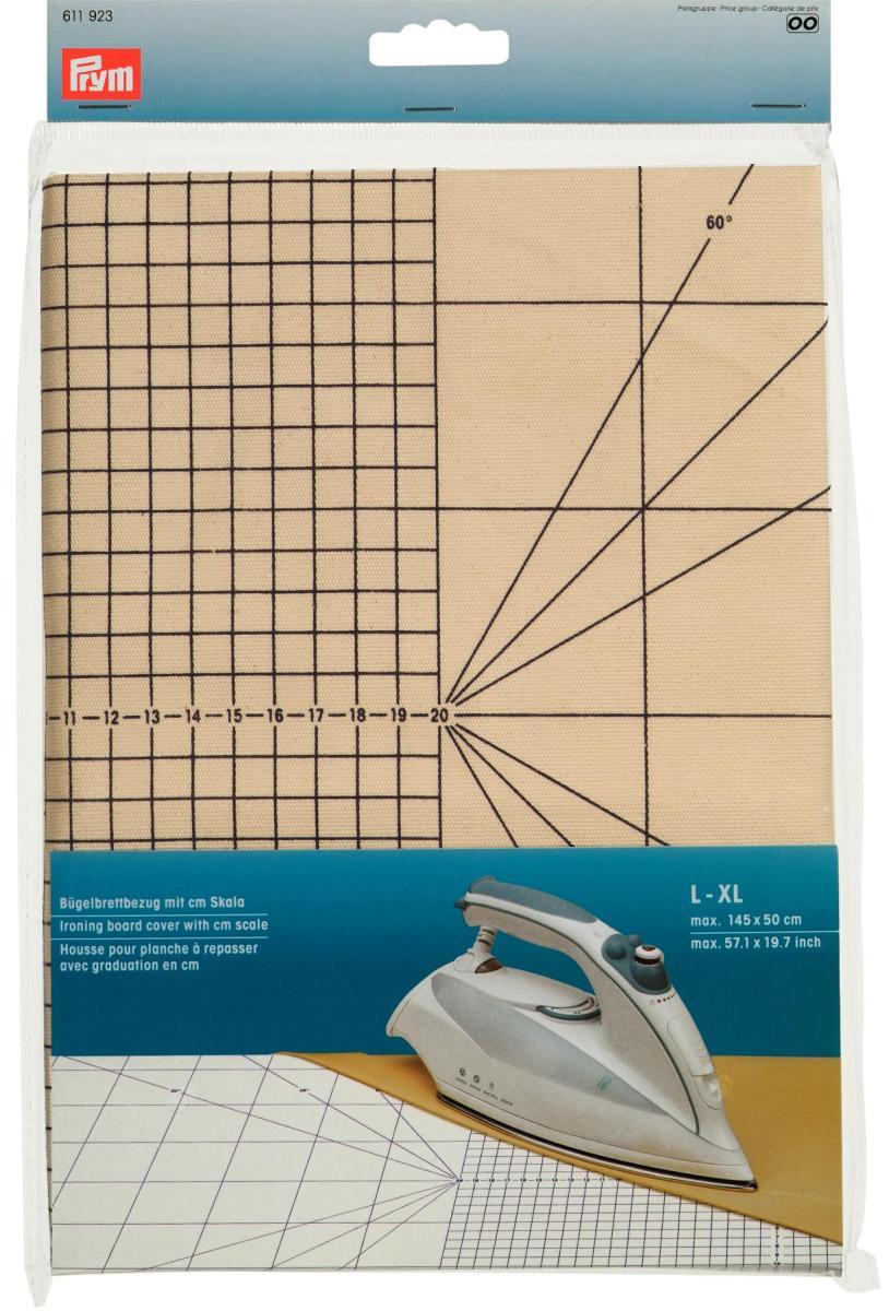 Чехол для гладильной доски Prym с сантиметровой шкалой, размер L-XL611923Чехол для гладильной доски Prym изготовлен из хлопка и фиксируется при помощи затягивающегося шнурка. Имеется специальная сантиметровая шкала. Является профессиональной подложкой для утюжки при рукоделии и особенно при шитье. Характеристики: Материал:хлопок. Размер: 145 см х 50 см Производитель: Германия. Артикул: 611923.
