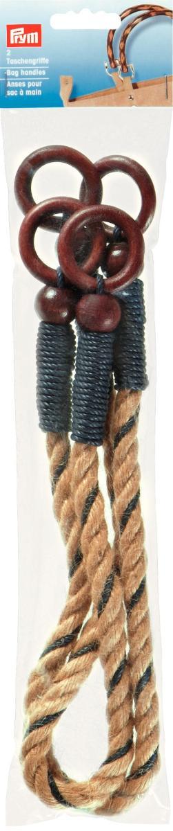 Ручки для сумок Дарья, плетеные, 62 см, цвет: бежевый, 2 шт615155Ручки для сумок Дарья, изготовлены из плетеного жгута и хлопчатобумажного шнура. Предназначены для пришивания к сумке. На концах имеются круглые коричневые деревянные петли для крепления ручек к вашему изделию. Если Вы решили сшить, связать или свалять себе сумочку, обратите внимание на эти ручки, они будут прекрасным и удобным завершением Вашего шедевра.