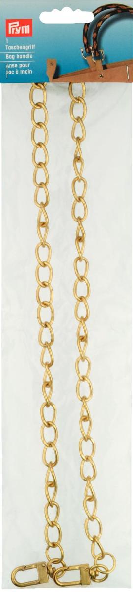 Ручка для сумок Kate (цепочка), 70 см, цвет: золотой615177Ручка для сумок Kate, изготовлена из металла и представляют собой цепочку с крупными звеньями золотого цвета. Предназначена для пришивания к сумке. Если Вы решили сшить, связать или свалять себе сумочку, обратите внимание на эту ручку, она будет прекрасным и удобным завершением Вашего шедевра.