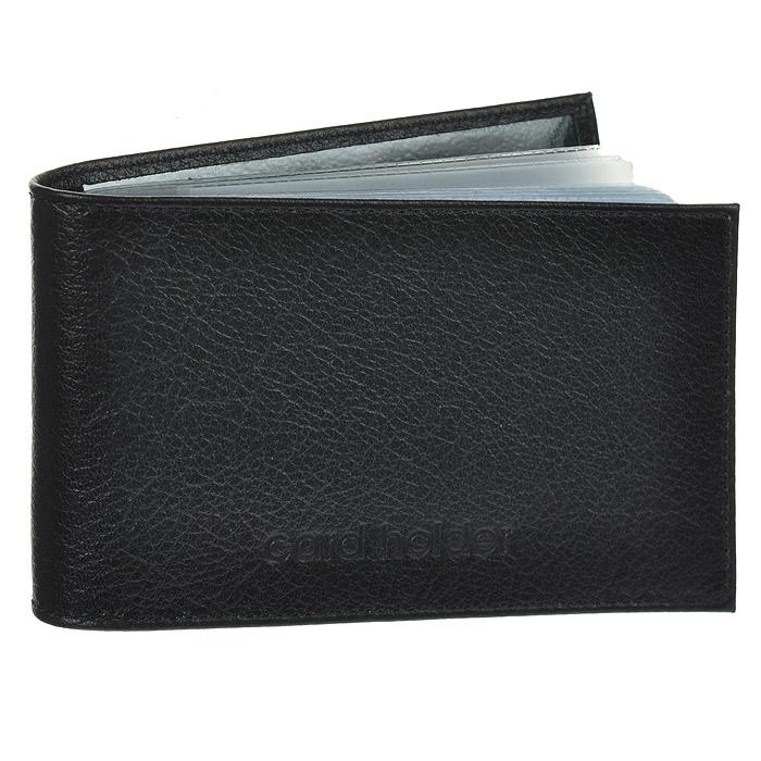 Кредитница Befler, цвет: черный. K.5.-9K.5.-9. черныйКомпактная горизонтальная кредитница Befler черного цвета - стильная вещь для хранения визиток. На внутреннем развороте два кармана из прозрачного пластика. Обложка кредитница выполнена из натуральной кожи и оформлена тиснением в виде надписи Card Holder. Кредитница предназначена для хранения 40 визиток и 20 кредитных карт. Характеристики: Цвет: черный. Размер: 11 см x 7 см x 1 см. Размер упаковки: 14 см x 7,5 см x 2 см. Материал: натуральная кожа. Производитель: Россия. Артикул: K.5.-9.