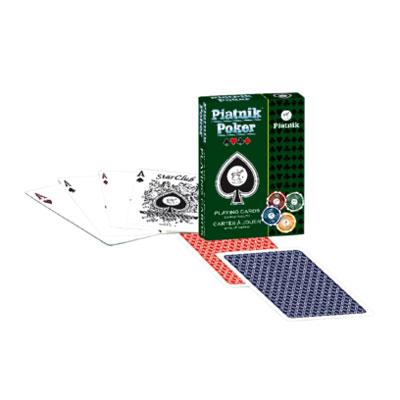 Карты игральные профессиональные Piatnik Piatnik Poker, 55 карт1322Карты Piatnik Poker со стандартным индексом предназначены для игры в покер и другие карточные игры. Карты имеют очень гладкую поверхность, покрытие из пластика и стандартный покерный размер.