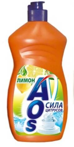 Жидкость для мытья посуды AOS Лимон, 500 мл392-3Жидкость для мытья посуды AOS Лимон эффективно удаляет любые загрязнения даже в холодной воде, отлично смывается водой. Благодаря новой сбалансированной формуле средство отлично пенится, придает посуде кристальный блеск, после ополаскивания не оставляет разводов. Защищает кожу рук.