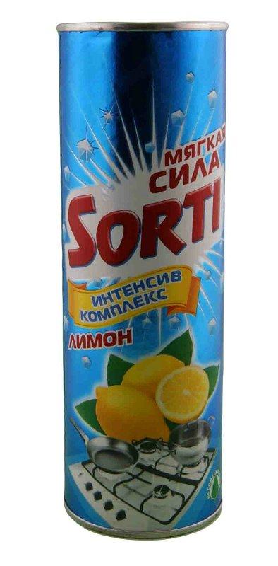 Чистящее средство Sorti Лимон, 400 г140-6Чистящее средство Sorti Лимон предназначено для чистки ванн, раковин, кухонных плит, а также фаянсовых, эмалированных и керамических поверхностей. Новая формула Интенсив комплекс 3в1 включает мельчайшие частицы мягких природных компонентов и уникальные бирюзовые гранулы. Интенсив-гранулы мгновенно расщепляют загрязнения, а мягкие минеральные частицы быстро очищают поверхности. Результат - идеальное очищение при мягком и бережном отношении к поверхности и коже рук. Благодаря ароматическим добавкам Sorti активно борется с неприятными запахами. Не содержит хлор, что особенно важно в домах с маленькими детьми.