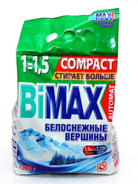 Стиральный порошок BiMax Белоснежные вершины, 1,5 кг511-1Стиральный порошок BiMax Белоснежные вершины предназначен для замачивания, стирки и отбеливания изделий из хлопчатобумажных, льняных, синтетических тканей, а также тканей из смешанных волокон. Не предназначен для стирки изделий из шерсти и натурального шелка. Порошок имеет пониженное пенообразование, содержит биодобавки и перекисные соли. BiMax удаляет загрязнения и трудновыводимые пятна, придавая вашему белью ослепительную белизну и свежесть горных вершин. Отбеливает даже при низких температурах. Кроме того, порошок экономит ваши средства: 1,5 кг BiMax заменяют 2,25 кг обычного порошка. Подходит для стиральных машин любого типа и ручной стирки.