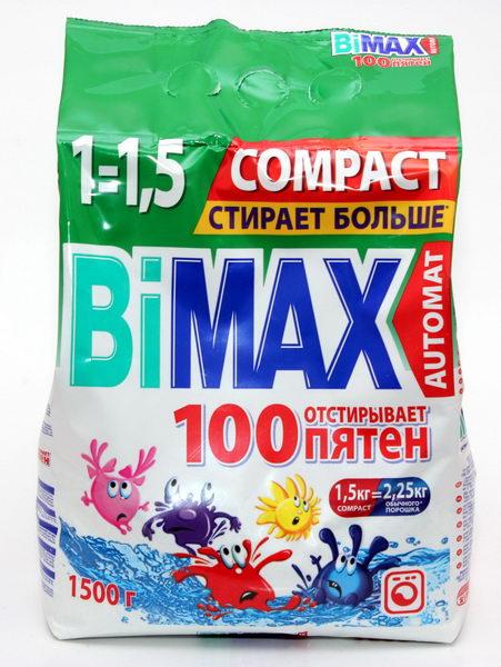 Стиральный порошок BiMax 100 пятен, 6 кг506-1Стиральный порошок BiMax 100 пятен предназначен для замачивания, стирки и отбеливания изделий из хлопчатобумажных, льняных, синтетических тканей, а также тканей из смешанных волокон. Не предназначен для стирки изделий из шерсти и натурального шелка. Порошок имеет пониженное пенообразование, содержит биодобавки и перекисные соли. BiMax удаляет загрязнения и более 100 видов трудновыводимых пятен, придавая вашему белью ослепительную белизну. Кроме того, порошок экономит ваши средства: 6 кг BiMax заменяют 9 кг обычного порошка. Подходит для стиральных машин любого типа и ручной стирки.