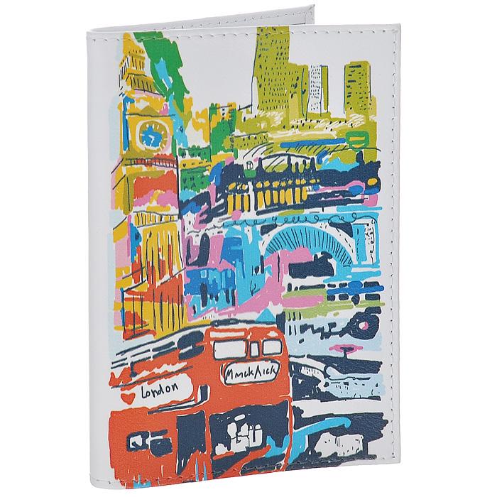 Обложка для паспорта Лондон в красках. OK196OK196Обложка для паспорта Mitya Veselkov, выполненная из натуральной кожи, оформлена изображением Лондона. Такая обложка не только поможет сохранить внешний вид ваших документов и защитит их от повреждений, но и станет стильным аксессуаром, идеально подходящим вашему образу. Яркая и оригинальная обложка подчеркнет вашу индивидуальность и изысканный вкус. Обложка для паспорта стильного дизайна может быть достойным и оригинальным подарком. Характеристики: Материал: натуральная кожа, пластик. Размер (в сложенном виде): 9,5 см х 13,5 см. Артикул: OK196.