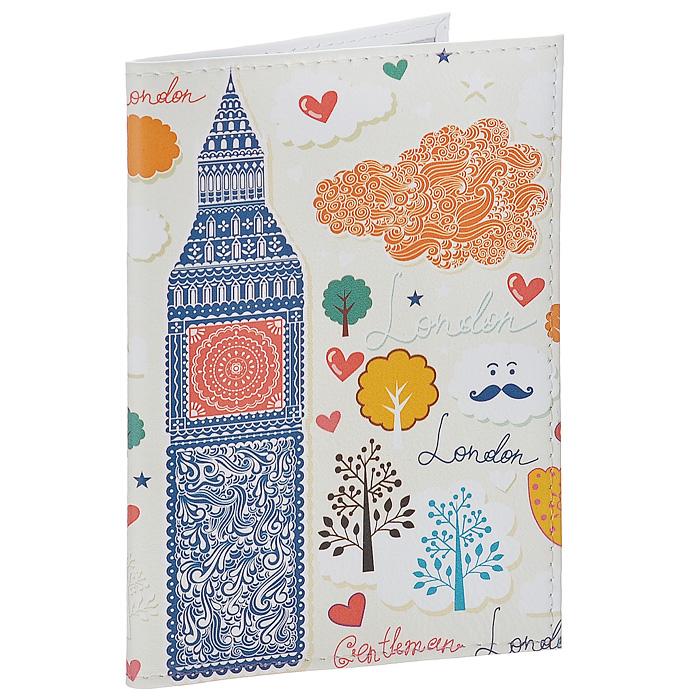 Обложка для паспорта Влюбленный Лондон. OK226OK226Обложка для паспорта Mitya Veselkov, выполненная из натуральной кожи, оформлена изображением сердечек, деревьев и достопримечательностей Лондона. Такая обложка не только поможет сохранить внешний вид ваших документов и защитит их от повреждений, но и станет стильным аксессуаром, идеально подходящим вашему образу. Яркая и оригинальная обложка подчеркнет вашу индивидуальность и изысканный вкус. Обложка для паспорта стильного дизайна может быть достойным и оригинальным подарком.
