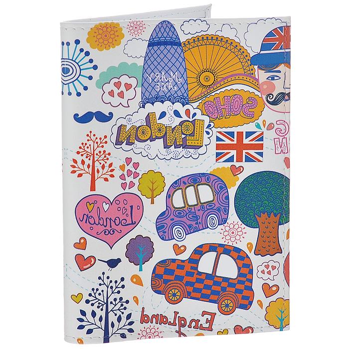 Обложка для паспорта Mitya Veselkov Праздничный Лондон. OK227OK227Обложка для паспорта Mitya Veselkov, выполненная из натуральной кожи, оформлена изображением достопримечательностей Лондона. Такая обложка не только поможет сохранить внешний вид ваших документов и защитит их от повреждений, но и станет стильным аксессуаром, идеально подходящим вашему образу. Яркая и оригинальная обложка подчеркнет вашу индивидуальность и изысканный вкус. Обложка для паспорта стильного дизайна может быть достойным и оригинальным подарком.