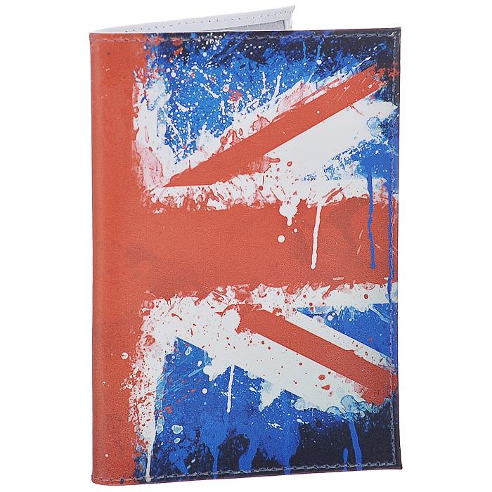 Обложка для паспорта Британский флаг в краске. OK190OK190Обложка для паспорта Mitya Veselkov, выполненная из натуральной кожи, оформлена изображением британского флага. Такая обложка не только поможет сохранить внешний вид ваших документов и защитит их от повреждений, но и станет стильным аксессуаром, идеально подходящим вашему образу. Яркая и оригинальная обложка подчеркнет вашу индивидуальность и изысканный вкус. Обложка для паспорта стильного дизайна может быть достойным и оригинальным подарком. Характеристики: Материал: натуральная кожа, пластик. Размер (в сложенном виде): 9,5 см х 13,5 см. Артикул: OK190.
