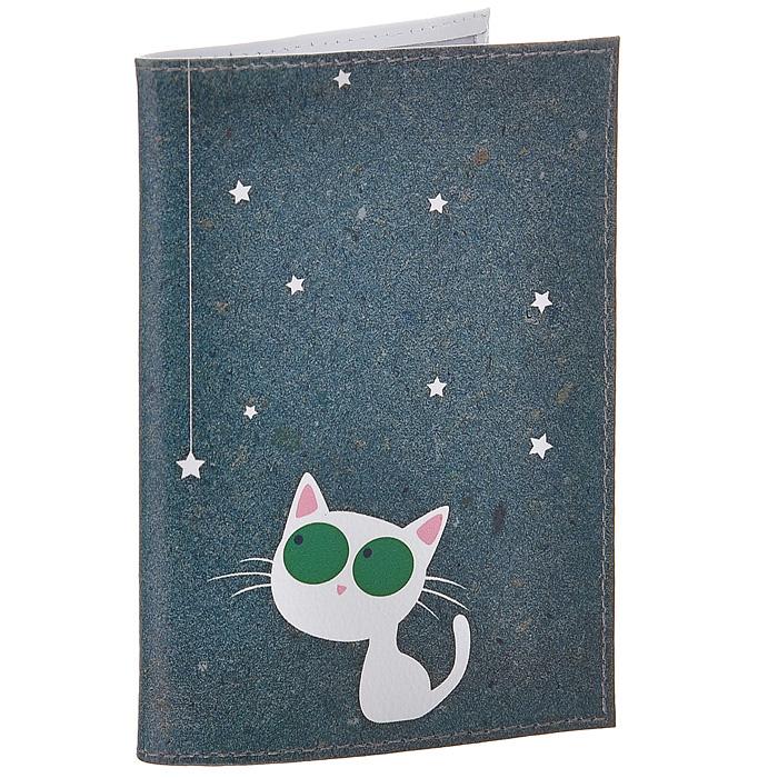 Обложка для паспорта Кошка и звезды. OK216OK216Обложка для паспорта Mitya Veselkov, выполненная из натуральной кожи, оформлена изображением белой кошки со звездочками. Такая обложка не только поможет сохранить внешний вид ваших документов и защитит их от повреждений, но и станет стильным аксессуаром, идеально подходящим вашему образу. Яркая и оригинальная обложка подчеркнет вашу индивидуальность и изысканный вкус. Обложка для паспорта стильного дизайна может быть достойным и оригинальным подарком. Характеристики: Материал: натуральная кожа, пластик. Размер (в сложенном виде): 9,5 см х 13,5 см. Артикул: OK216.