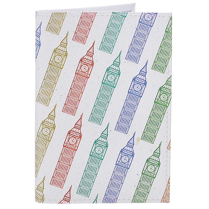 Обложка для паспорта Биг-Бены на молочном. OK214OK214Обложка для паспорта Mitya Veselkov, выполненная из натуральной кожи, оформлена изображением разноцветных башен Биг-Бен на белом фоне. Такая обложка не только поможет сохранить внешний вид ваших документов и защитит их от повреждений, но и станет стильным аксессуаром, идеально подходящим вашему образу. Яркая и оригинальная обложка подчеркнет вашу индивидуальность и изысканный вкус. Обложка для паспорта стильного дизайна может быть достойным и оригинальным подарком. Характеристики: Материал: натуральная кожа, пластик. Размер (в сложенном виде): 9,5 см х 13,5 см. Артикул: OK214.