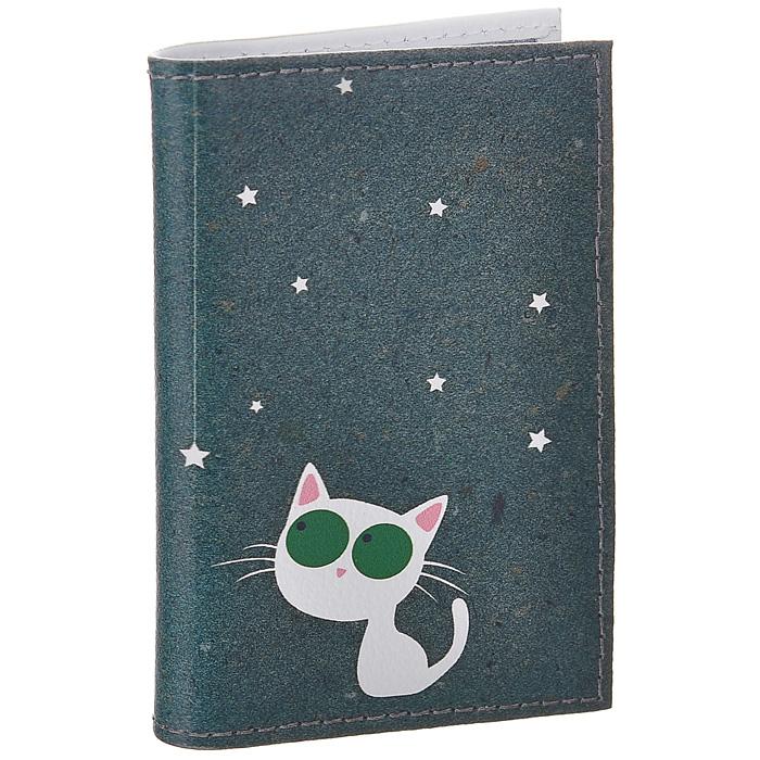 Визитница Кошка и звезды. VIZIT-172VIZIT-172Визитница Mitya Veselkov, выполненная из натуральной кожи, оформлена изображением белой кошки со звездочками. Внутри содержится блок из прозрачного пластика на 18 визиток и 2 прозрачных вертикальных кармана. Яркая и оригинальная визитница подчеркнет вашу индивидуальность и изысканный вкус. Визитница стильного дизайна может быть достойным и оригинальным подарком. Характеристики: Материал: натуральная кожа, пластик. Размер (в сложенном виде): 7 см х 10,3 см х 1 см. Артикул: VIZIT172.