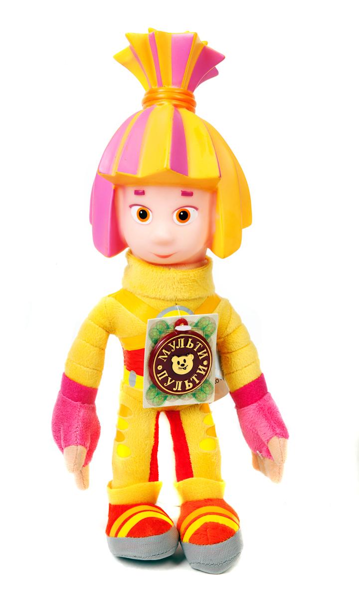 Симка (м/ф Фиксики). Мягкая говорящая игрушка, 28 смV41452/28Игрушка Фиксики Симка привлечет внимание вашего ребенка и не позволит ему скучать. Она выполнена из текстильного материала и пластика в виде Симки - персонажа популярного мультсериала Фиксики. Милый и забавный Симка будет отличным подарком для маленького поклонника или поклонницы интересного мультфильма, так полюбившегося детям. Каждая мягкая игрушка доставляет детям радость. А игрушка в виде героя популярного мультфильма, да еще и говорящая доставляет радость в двойном размере! Мультфильмы - важная составляющая детства. Среди игрушек серии Мульти-пульти Ваш малыш сможет найти любимых героев из добрых мультфильмов, играя с которыми ребенок сможет развить смекалку, остроумие и фантазию. Игрушки серии Мульти-пульти оснащены уникальными электронно-звуковыми устройствами, поэтому Ваш малыш всегда сможет прослушать любимые фразы и песенки из уст самих мультгероев.