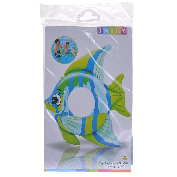Круг надувной Intex Тропические рыбки, 94 см х 80 см, в ассортиментеint59219NPНадувной круг Intex Тропические рыбки выполнен из прочного винила ярких цветов в виде рыбки. Плавники игрушки придают ей дополнительную устойчивость на воде. Надувной круг Intex Тропические рыбки станет незаменимым атрибутом летнего отдыха для вашего малыша! Гарантия производителя: 30 дней.