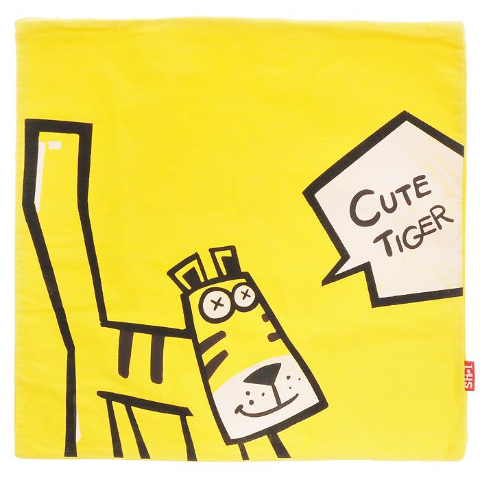 WSBD World Чехол для подушки Тигр, цвет: желтый, 42 см х 42 смЧехол для подушки Тигр, 42 см х 42 см, цвет: желтыйЧехол для подушки Тигр изготовлен из чистого хлопка и оформлен изображением забавного тигрёнка с надписью Cute Tiger. Застёгивается на молнию. Чехол не выгорает, не растягивается, не садится после стирки, и абсолютно безопасен для вашего здоровья. Чехол послужит прекрасным украшением вашего дома, создаст атмосферу уюта. Характеристики: Размер чехла: 42 см x 42 см. Материал: 100% хлопок. Производитель: Китай.