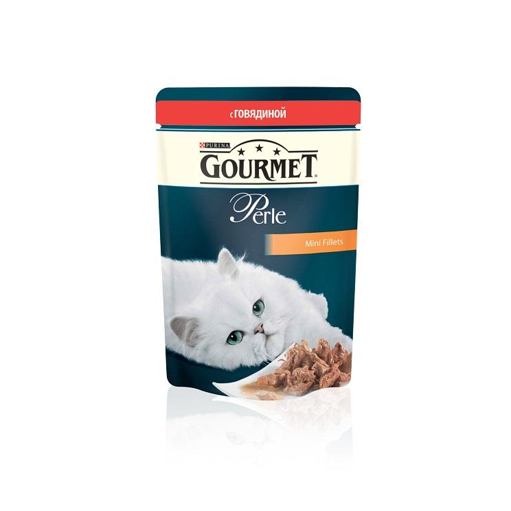 Консервы для кошек Gourmet Perle, мини-филе с говядиной, 85 г12215233Ваша кошка - настоящий гурман, и порой ей сложно угодить. Корм Gourmet Perle - это изысканное угощение с превосходным вкусом, которым ваша кошка будет наслаждаться каждый день. Ваш гурман оценит нежнейшие кусочки с мясом или рыбой, приготовленные в аппетитном соусе. Корм Gourmet Perle - изысканное угощение на каждый день. Рекомендации по кормлению: Суточная норма: 3-4 пакетика в день для взрослой кошки (средний вес 4 кг), в два приема. Данная суточная норма рассчитана для умеренно активных взрослых кошек, живущих в условиях нормальной температуры окружающей среды. В зависимости от индивидуальных потребностей кошки норма кормления может быть скорректирована для поддержания нормального веса вашей кошки. Подавайте корм комнатной температуры. Следите, чтобы у вашей кошки всегда была чистая, свежая питьевая вода. Условия хранения: Закрытый пакетик хранить в сухом прохладном месте. После открытия продукт хранить в холодильнике...