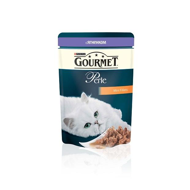 Консервы для кошек Gourmet Perle, мини-филе с ягненком, 85 г12215290Ваша кошка - настоящий гурман, и порой ей сложно угодить. Корм Gourmet Perle - это изысканное угощение с превосходным вкусом, которым ваша кошка будет наслаждаться каждый день. Ваш гурман оценит нежнейшие кусочки с мясом или рыбой, приготовленные в аппетитном соусе. Корм Gourmet Perle - изысканное угощение на каждый день. Рекомендации по кормлению: Суточная норма: 3-4 пакетика в день для взрослой кошки (средний вес 4 кг), в два приема. Данная суточная норма рассчитана для умеренно активных взрослых кошек, живущих в условиях нормальной температуры окружающей среды. В зависимости от индивидуальных потребностей кошки норма кормления может быть скорректирована для поддержания нормального веса вашей кошки. Подавайте корм комнатной температуры. Следите, чтобы у вашей кошки всегда была чистая, свежая питьевая вода. Условия хранения: Закрытый пакетик хранить в сухом прохладном месте. После открытия продукт хранить в холодильнике...