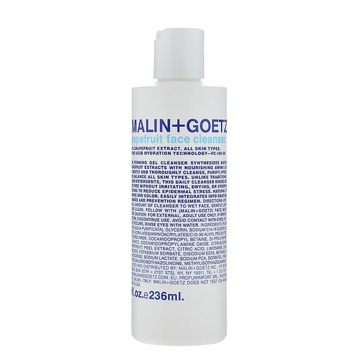 Malin+Goetz Гель для умывания Грейпфрут, 236 млMG055Этот нежный пенящийся очищающий гель Malin+Goetz Грейпфрут, предназначенный для ежедневного использования, подходит как для женщин, так и для мужчин и сочетает натуральный экстракт грейпфрута и очищающие вещества на основе аминокислот. В отличие от традиционных грубых очищающих средств, которые могут повредить и вызвать сухость и раздражение, эта формула нежно и тщательно очищает и увлажняет, поддерживая рН-баланс любого типа кожи, особенно чувствительной. Удаляет макияж, в том числе макияж глаз. Полностью смывается водой, устраняя необходимость использования тоника. Имеет натуральный аромат и цвет.