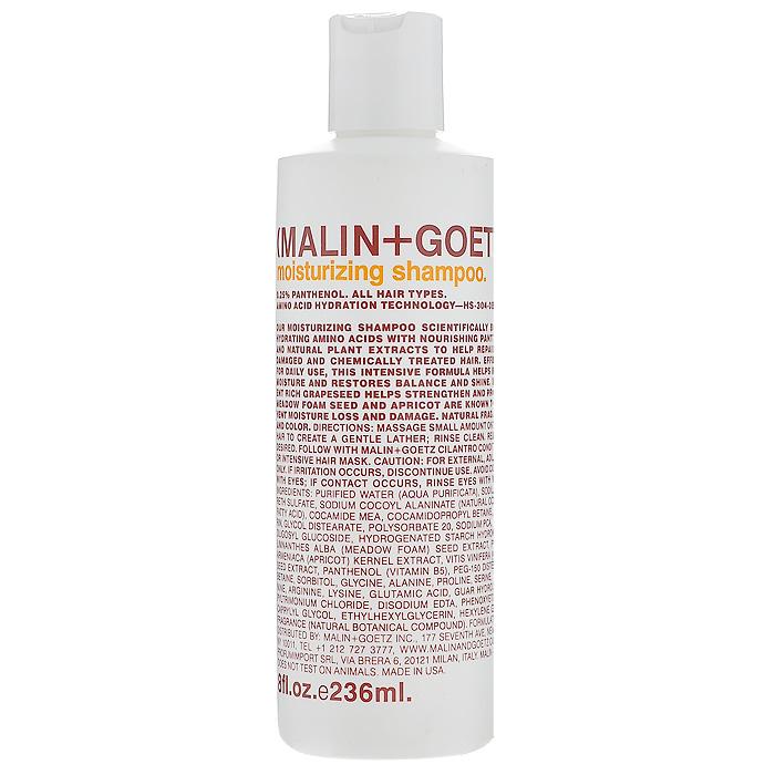Malin+Goetz Шампунь увлажняющий, для всех типов волос, 236 млMG052Увлажняющий шампунь Malin+Goetz содержит аминокислоты, питательный пантенол и натуральные растительные экстракты, которые бережно очищают, ухаживают и восстанавливают сухие, поврежденные или химически обработанные волосы. Интенсивно увлажняет и питает, не содержит силиконы или воск, которые утяжеляют волосы и забивают поры. Мягко очищает волосы, поддерживает баланс кожи головы баланс, сохраняя влагу и блеск. Помогает восстановить сухие, поврежденные и химически обработанные волосы. Не содержит хлорид натрия и подходит для химически выпрямленных волос. Мягкая и эффективная формула подходит для ежедневного использования для женщин и мужчин, для всех типов волос, включая тонкие и нормальные волосы. Характеристики: Объем: 236 мл. Производитель: США. Товар сертифицирован.