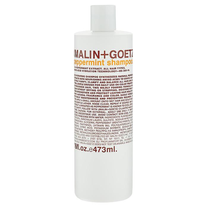Malin+Goetz Шампунь Мята, для всех типов волос, 473 млMG050Нежный увлажняющий шампунь Мята подходит для ежедневного и частого использования. Натуральный экстракт мяты и очищающие ингредиенты на основе аминокислот эффективно очищают и поддерживают баланс всех типов волос и кожи головы. В отличие от традиционных грубых очищающих средств, шампунь Мята очищает, не вызывая сухости, повреждений или раздражения кожи и не накапливается на волосах. Шампунь умеренно пенится, полностью смывается водой, делая волосы мягкими и ухаживая за кожей головы. Не содержит хлорид натрия и является прекрасным дополнением к ежедневному уходу за окрашенными волосами и волосами с химической завивкой или выпрямлением. Имеет натуральный аромат и цвет. Характеристики: Объем: 473 мл. Производитель: США. Товар сертифицирован.
