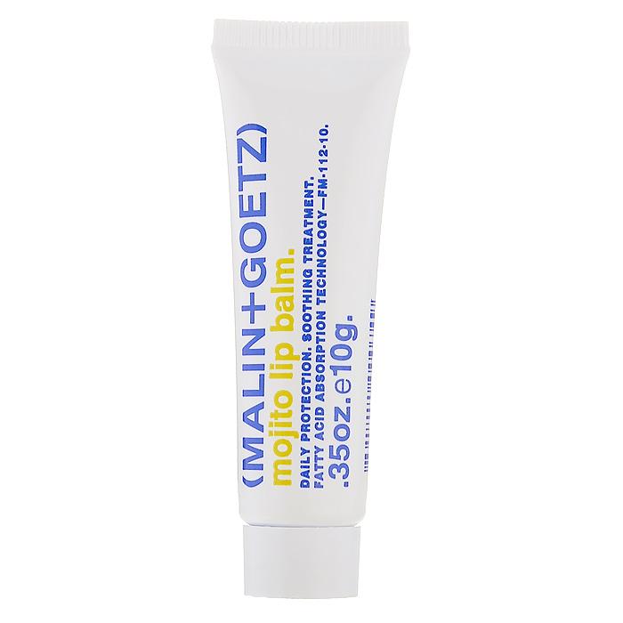 Malin+Goetz Бальзам для губ Мохито, 10 гMG053Увлажняющий бальзам для губ Malin+Goetz Мохито специально создан для мгновенного восстановления и укрепления сухой, раздраженной кожи губ. Подходит для ежедневного использования. Защита 24 часа. В отличие от традиционных масел, силиконов и высушивающего кожу воска, которые быстро съедаются и стираются с кожи губ, этот увлажняющий бальзам содержит быстро впитывающиеся жирные кислоты, которые интенсивно питают, увлажняют, защищают и остаются на коже надолго.