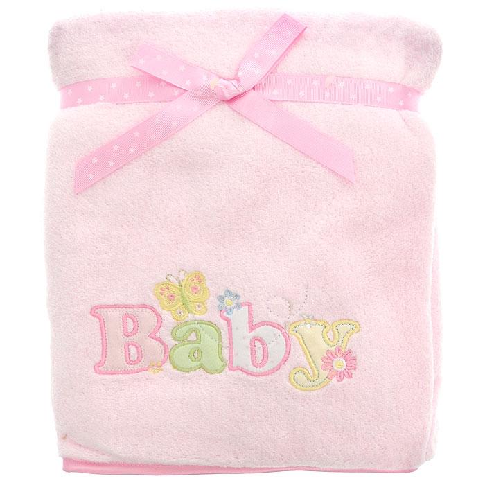 Плед детский Baby, цвет: розовый, 76 см х 101 смRB BABY 03Мягкий и уютный детский плед Baby нежного розового цвета словно создан для того, чтобы окружить теплотой и радостью маленькую кроху. Он прекрасно подходит для укрывания малыша, как дома, так и на прогулке в коляске. Верхний слой пледа изготовлен из мягкого, приятного на ощупь плюша, нижний слой - из тонкого флиса. Оформлен он аппликацией в виде надписи Baby. Благодаря размерам и практичному материалу плед очень удобен в использовании. Детский плед Baby - лучший выбор родителей, которые хотят подарить ребенку ощущение комфорта и надежности уже с первых дней жизни. Рекомендации по уходу: Машинная стирка при 30°С, деликатный отжим.
