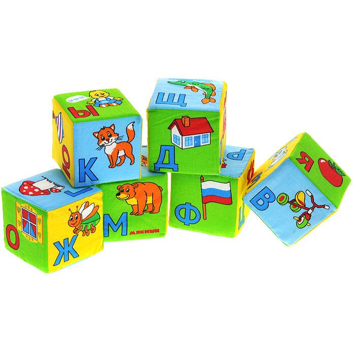 Кубики Мякиши Азбука в картинках207Мягкие кубики Мякиши Азбука в картинках помогут вашему ребенку увлекательно и с пользой провести время. На каждой из граней кубиков изображена буква русского алфавита и предмет или животное, название которого начинается с этой буквы. В набор входят шесть кубиков, благодаря которым можно сложить более 50 слов, входящих в лексикон детей раннего возраста, и свыше 100 слов, входящих в лексикон взрослого. Кубики выполнены из высококачественной ткани с мягким наполнителем. Удачно подобранный размер, цвет и понятные рисунки помогут вашему малышу развить мышление, координацию движений и мелкую моторику рук, а также в игровой форме познакомиться с окружающим миром.