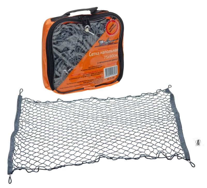 AIRLINE Cетка напольная, 75 х 90 см, 4 крючкаAS-S-06Напольные сетки надежно прижимают груз к полу багажника, что исключает перемещение груза, в результате отсутствует шум, обычно возникающий при движении автомобиля. Характеристики: Материал: металл, резина, текстиль. Количество крючков: 4 шт. Размер сетки: 75 см х 90 см. Размер упаковки: 20 см х 17 см х 5 см.