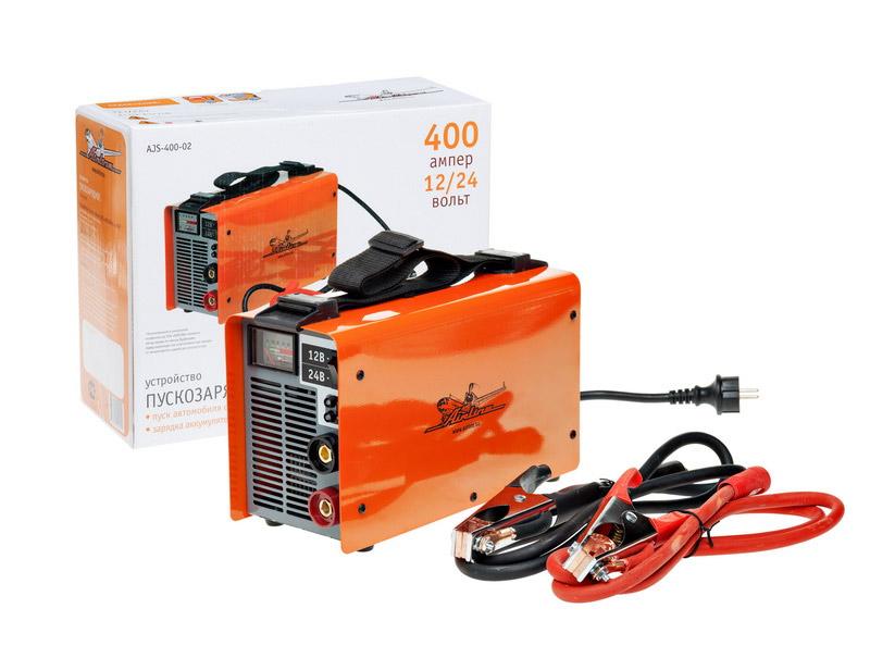 Автомобильное пускозарядное устройство Airline AJS-400-02, 400 АAJS-400-02Автомобильное пускозарядное устройство Airline AJS-400-02 предназначено в первую очередь для пуска двигателя внутреннего сгорания (автомобили, катера, яхты, аэросани, снегоходы и т. д.) при полностью разряженной аккумуляторной батарее. Собрано по оригинальной электронной схеме преобразователя с высокого переменного напряжения 220В - 50Гц в низкое постоянное напряжение 12В, с высоким КПД (85%), что позволяет обеспечить пусковой ток без потери напряжения! Используется запатентованный метод заряда по закону Вудбриджа. Характеристики: Рабочий выходной ток: до 400 А. Пиковый выходной ток: до 800 А. Выходная мощность: 7000 Вт Размеры устройства (Д х Ш х В): 31 см х 13 см х 19 см. Размер упаковки (Д х Ш х В): 37 см х 15 см х 29 см. Изготовитель: Китай.