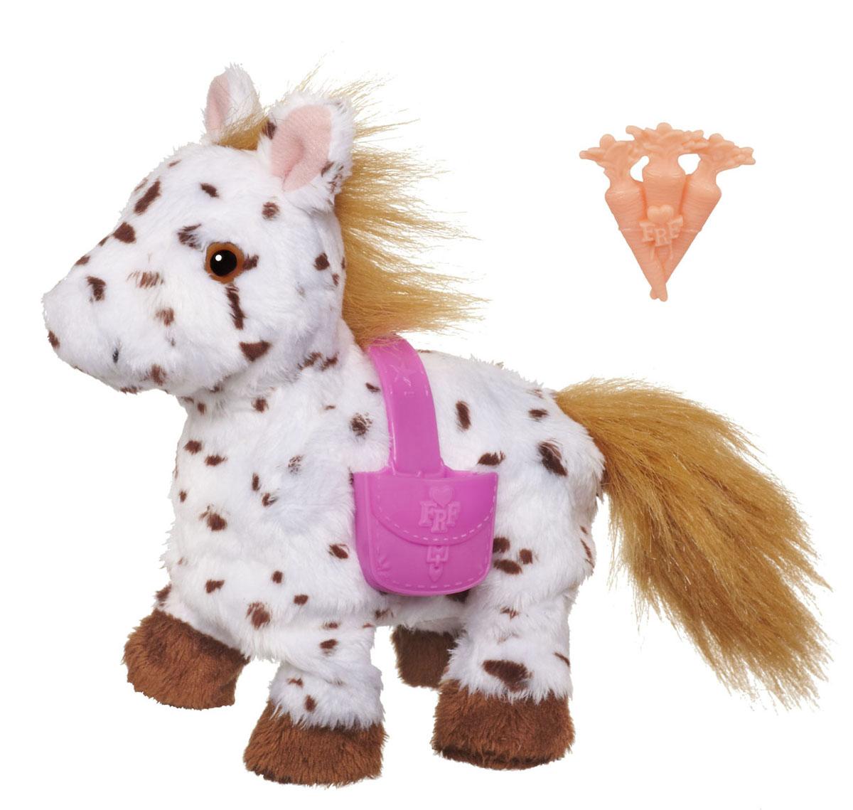 FurReal Friends Интерактивная игрушка Пони в ассортиментеA2011Анимированная игрушка FurReal Friends Ласковые зверята: Пони привлечет внимание не только ребенка, но и взрослого. Этот симпатичный пони с пушистыми гривой и хвостом очень любит, когда его гладят по спинке, при этом он начинает идти. Благодаря небольшому размеру игрушку можно брать с собой в гости или на прогулку. В комплект с пони входят два аксессуара, с которыми игра становится еще интереснее.
