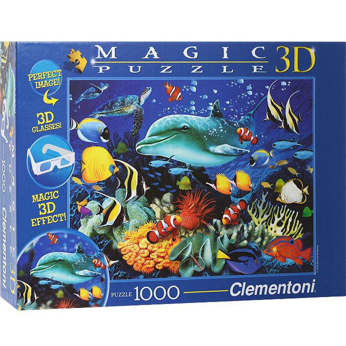 Дельфиний риф. Пазл с 3D-эффектом, 1000 элементов391863D-эффект теперь и у Вас дома! Удивите своих близких объемным изображением обитателей подводного мира и коралловых рифов. Эффект 3D будет виден в специальных очках, которые идут в комплекте с набором. Пазл - великолепная игра для семейного досуга. Сегодня собирание пазлов стало особенно популярным, главным образом, благодаря своей многообразной тематике, способной удовлетворить самый взыскательный вкус. А для детей это не только интересно, но и полезно. Собирание пазла развивает мелкую моторику у ребенка, тренирует наблюдательность, логическое мышление, знакомит с окружающим миром, с цветом и разнообразными формами.