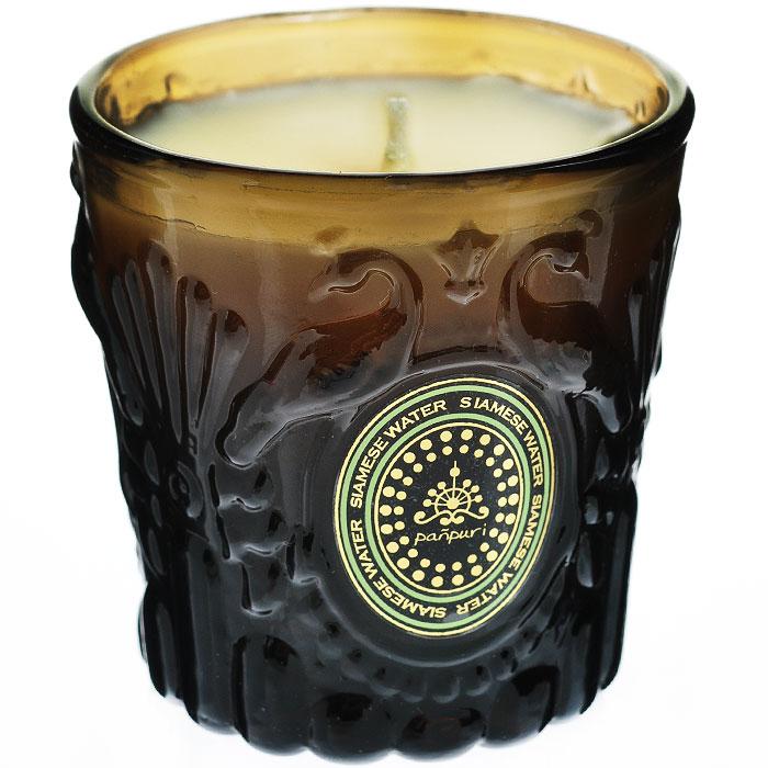 Panpuri Свеча ароматизированная Сиамская вода, 50 гPNP100050Сиамская вода перенесет вас в цветущее Королевство Сиам, где сладкие ноты жасмина и экзотических цветов сочетаются с чувственной свежестью иланг-иланга и мяты. Время горения 12 часов.